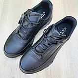 Ecc0 мужские демисезонные черные кроссовки на шнурках, фото 8