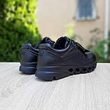 Ecc0 мужские демисезонные черные кроссовки на шнурках, фото 9