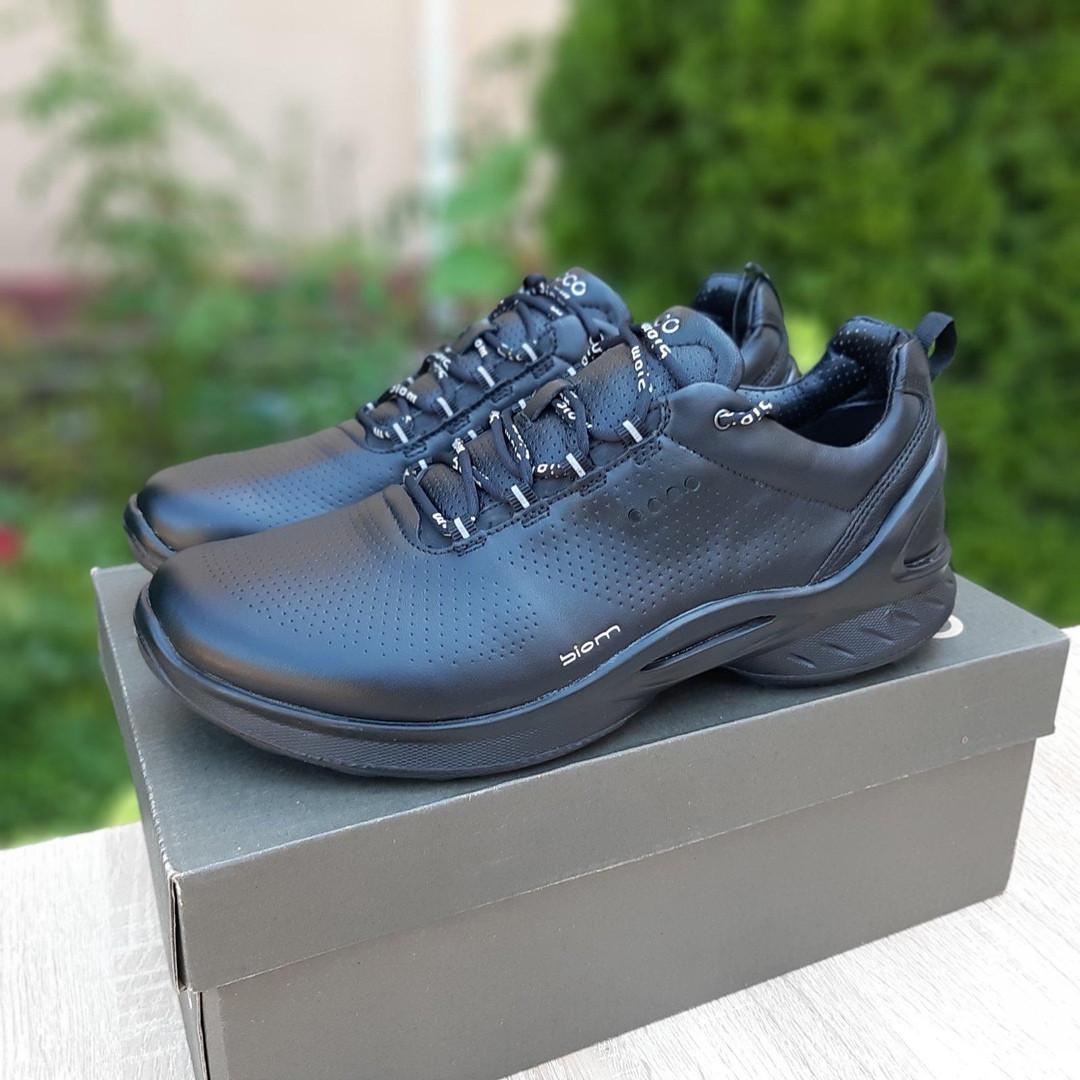 Ecc0 Biom  мужские демисезонные черные кроссовки на шнурках