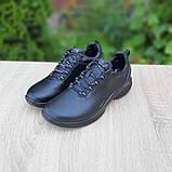 Ecc0 Biom  мужские демисезонные черные кроссовки на шнурках, фото 3