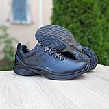 Ecc0 Biom  мужские демисезонные черные кроссовки на шнурках, фото 4