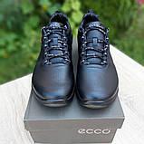 Ecc0 Biom  мужские демисезонные черные кроссовки на шнурках, фото 5