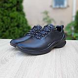 Ecc0 Biom  мужские демисезонные черные кроссовки на шнурках, фото 7