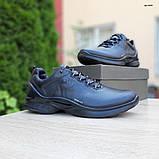 Ecc0 Biom  мужские демисезонные черные кроссовки на шнурках, фото 8