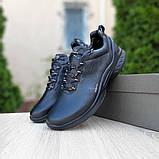 Ecc0 Biom  мужские демисезонные черные кроссовки на шнурках, фото 9