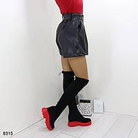 Демисезонные женские сапоги чулки, фото 1