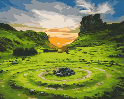 """Картина за номерами Art Craft """"Долина фей. Шотландія"""" 40х50см, 10511-AC"""