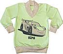 Дитяча піжама ріст 86 1 рік-1,5 року інтерлок салатовий Тачки на хлопчика для малюків З-016, фото 2