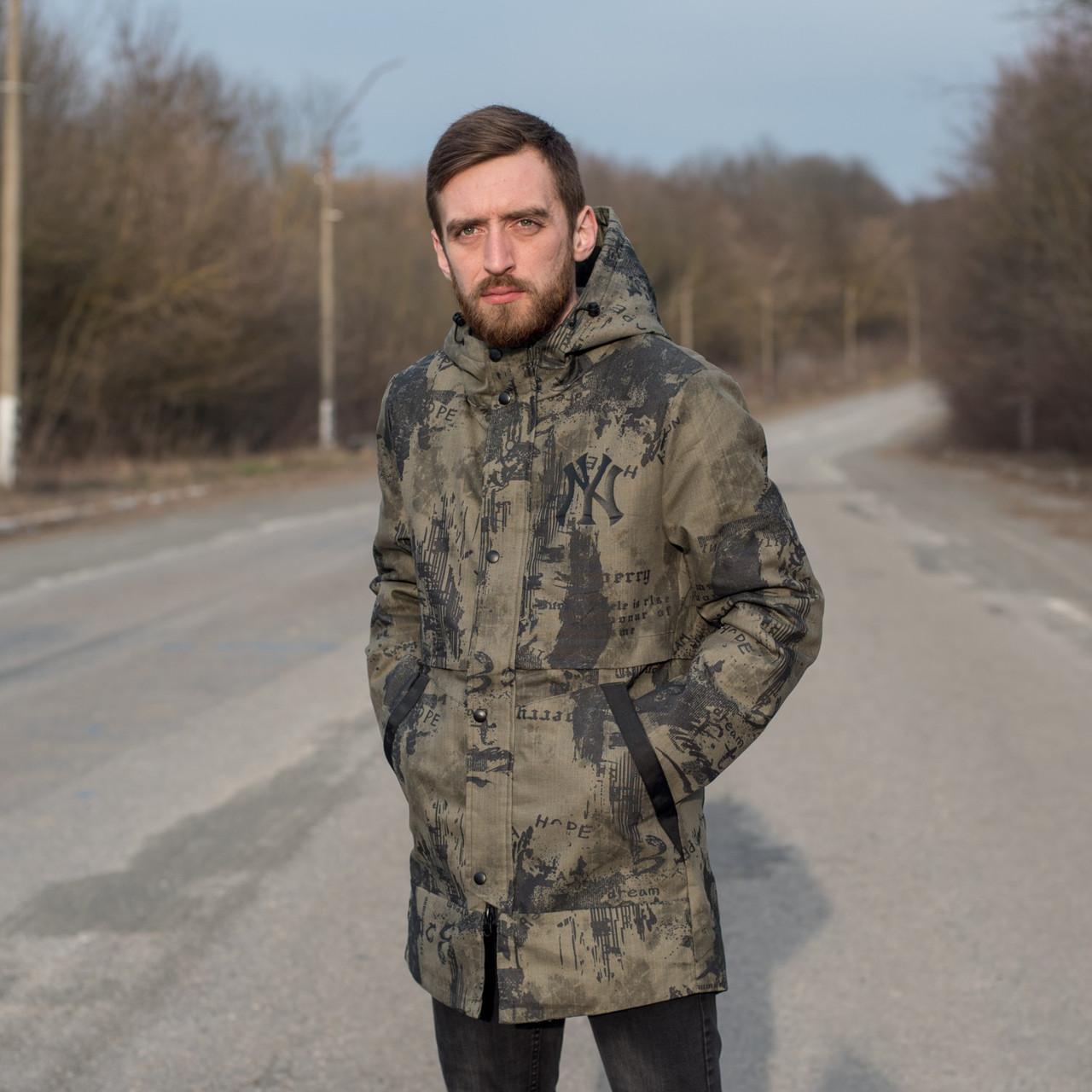 Чоловіча демісезонна куртка New York, кольору хакі