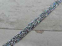 Страхова смужка на силіконі 1х40 см, срібна з перламутровим відливом