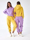 Спортивный костюм женский пудра, меланж, фиалка, желтый 42-44, 44-46, фото 9
