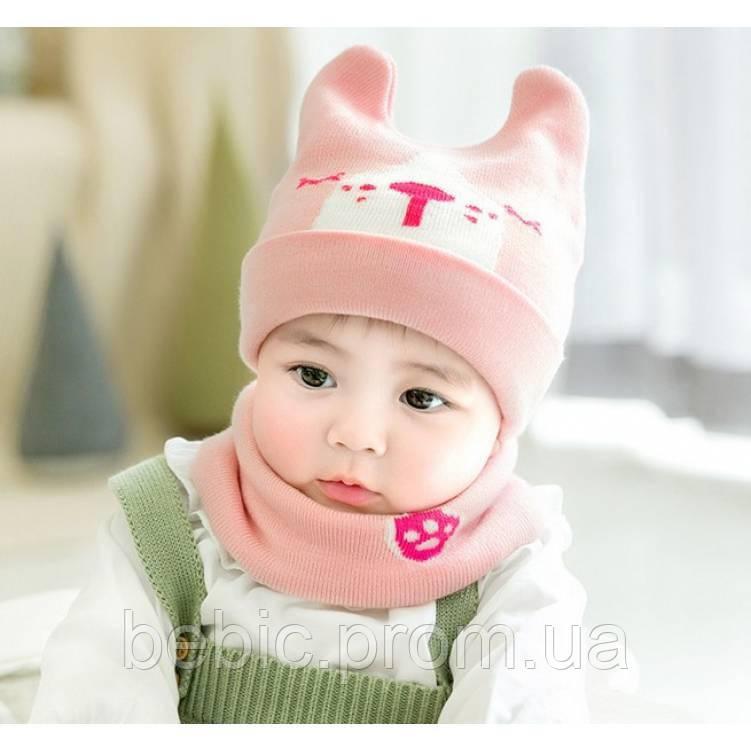 Комплект шапка+хомут 3 цвета Размер: 46-50 см