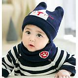 Комплект шапка+хомут 3 цвета Размер: 46-50 см, фото 2