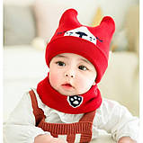 Комплект шапка+хомут 3 цвета Размер: 46-50 см, фото 3