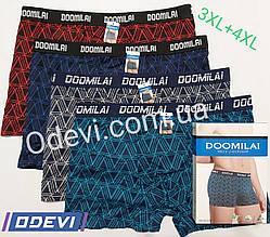 Doomilai труси бавовна з бамбуком розмір 3XL + 4XL абстракція