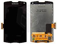 Дисплейный модуль (дисплей + сенсор) для Samsung Galaxy Wave 2 S8530, черный, оригинал