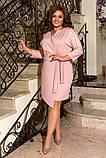 Женское нарядное платье до колен трикотаж размер: 50-52, 54-56, 58-60, фото 6