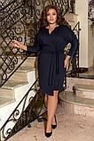 Женское нарядное платье до колен трикотаж размер: 50-52, 54-56, 58-60, фото 8