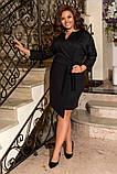 Женское нарядное платье до колен трикотаж размер: 50-52, 54-56, 58-60, фото 3