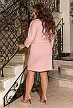 Женское нарядное платье до колен трикотаж размер: 50-52, 54-56, 58-60, фото 9