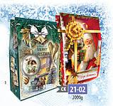 Новогодняя коробка, Щирі вітання!, 2000 гр, Картонная упаковка для конфет, фото 2