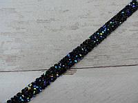 Страхова смужка на силіконі 1х40 см, чорний +синій.