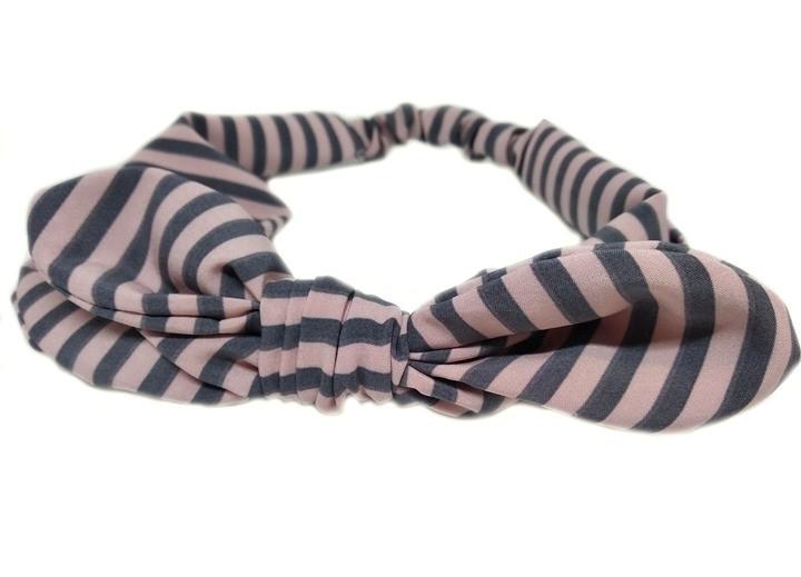Оригинальная повязка для волос женская в полоску Солоха