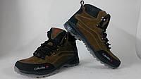 Мужские ботинки Ecco Новинки 2015 (темно коричневые крейзи), фото 1