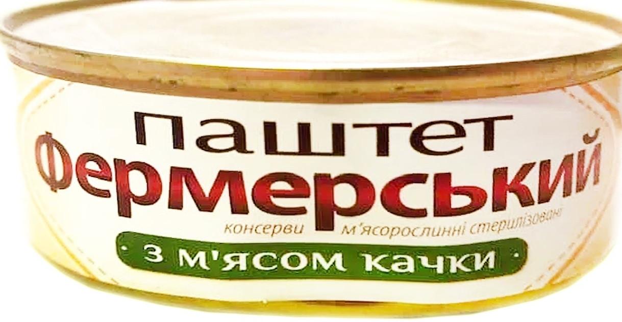 Паштет Фермерский с мяса утки 240 грамм