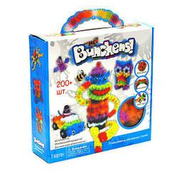 Детский конструктор липучка Bunchems 200 Pieces! Вязкий пушистый шарик Банчемс на 200 деталей