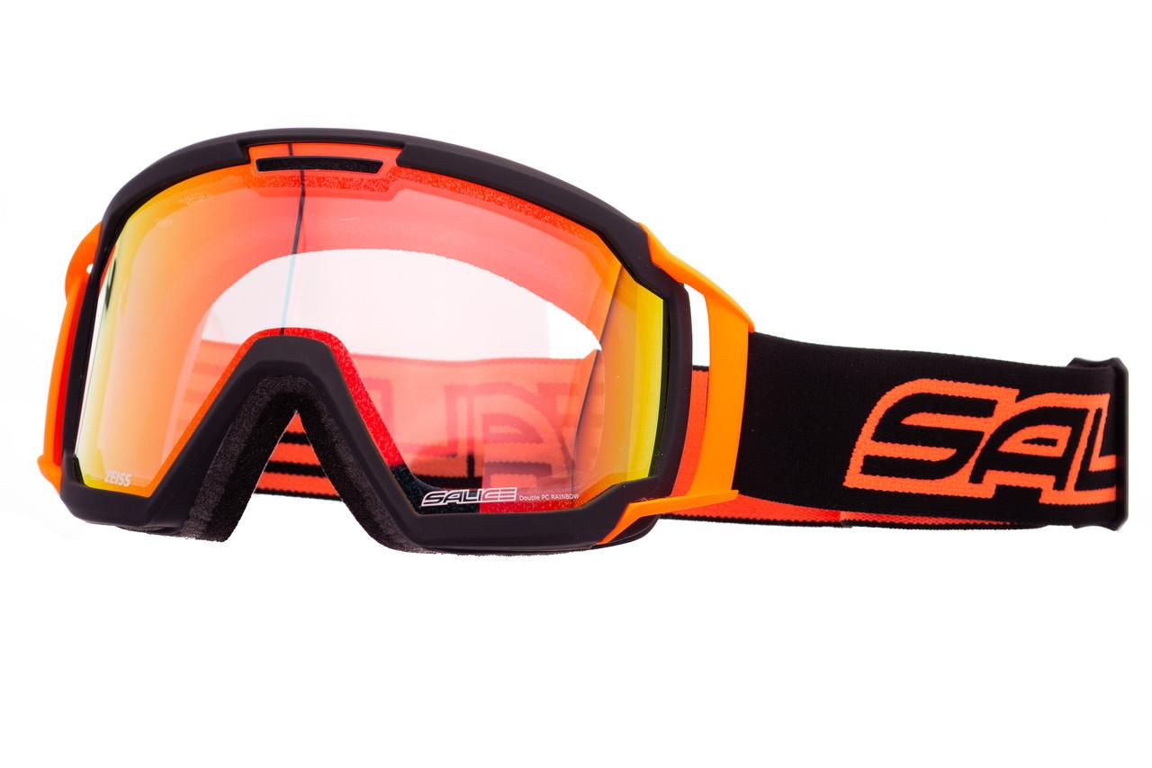Маска гірськолижна Salice 618 Black Orange - Clear