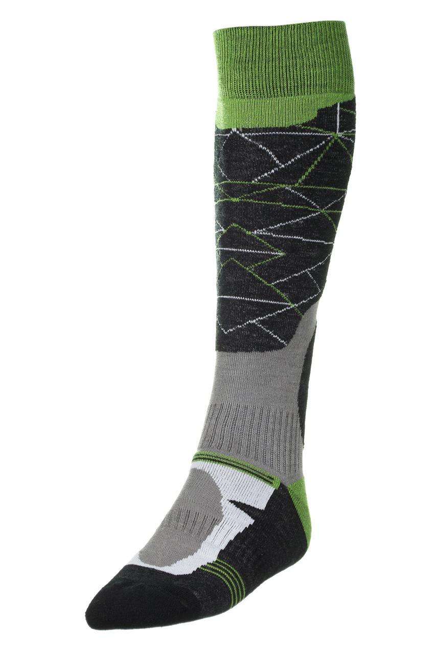 Шкарпетки лижні Spaio Ski Merino 41-43 Black-Grey-Green