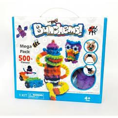 Детский конструктор липучка Bunchems 500 Pieces! Вязкий пушистый шарик Банчемс на 500 деталей