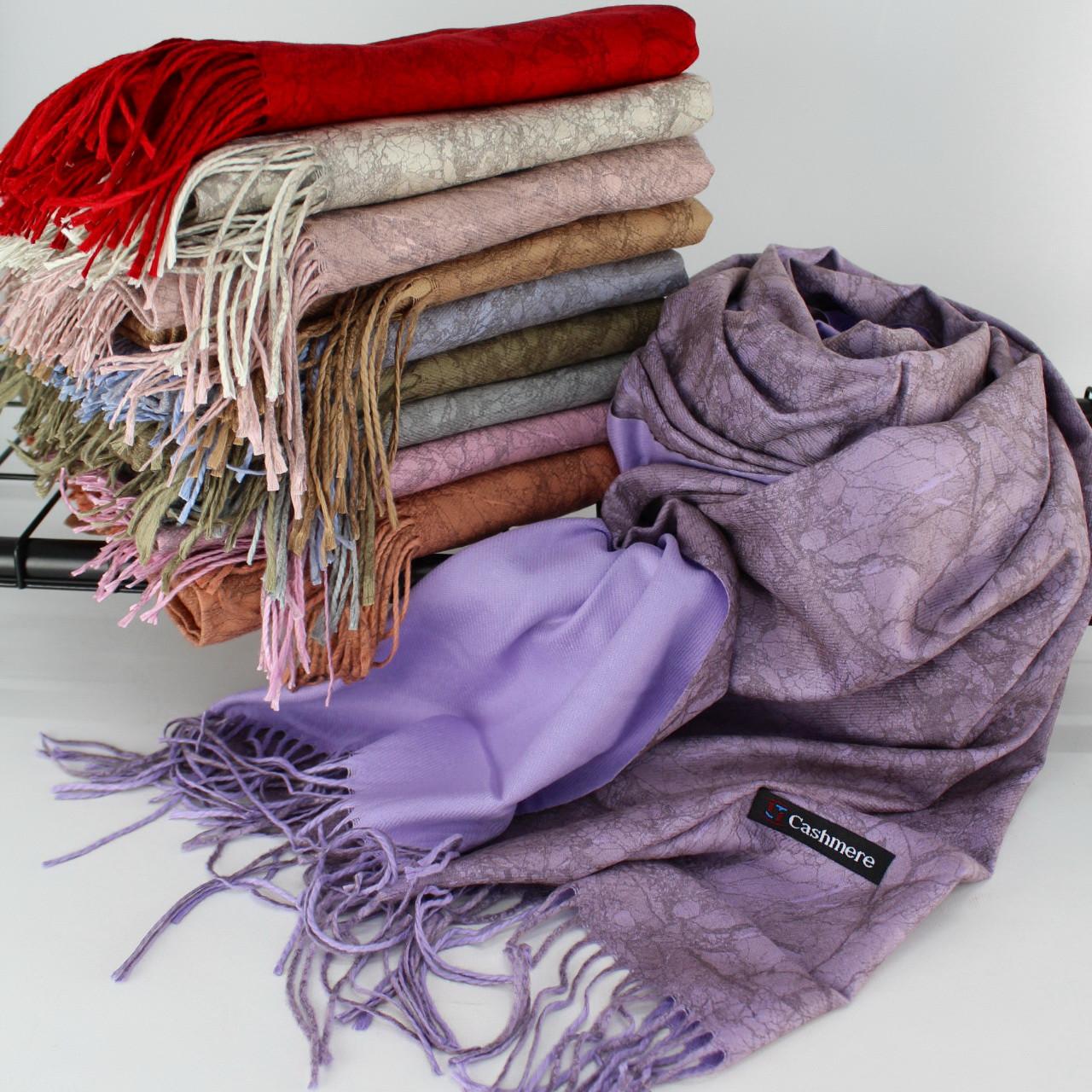 """Кашеміровий двосторонній шарф палантин """"Індіра"""" Cashmere 102009"""