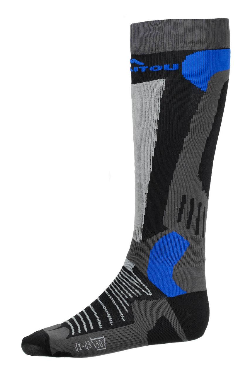 Шкарпетки лижні Emmitou 35-37 Black-Grey-Blue