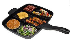 Сковородка универсальная Magic Pan 5 в 1, антипригарная сковорода гриль