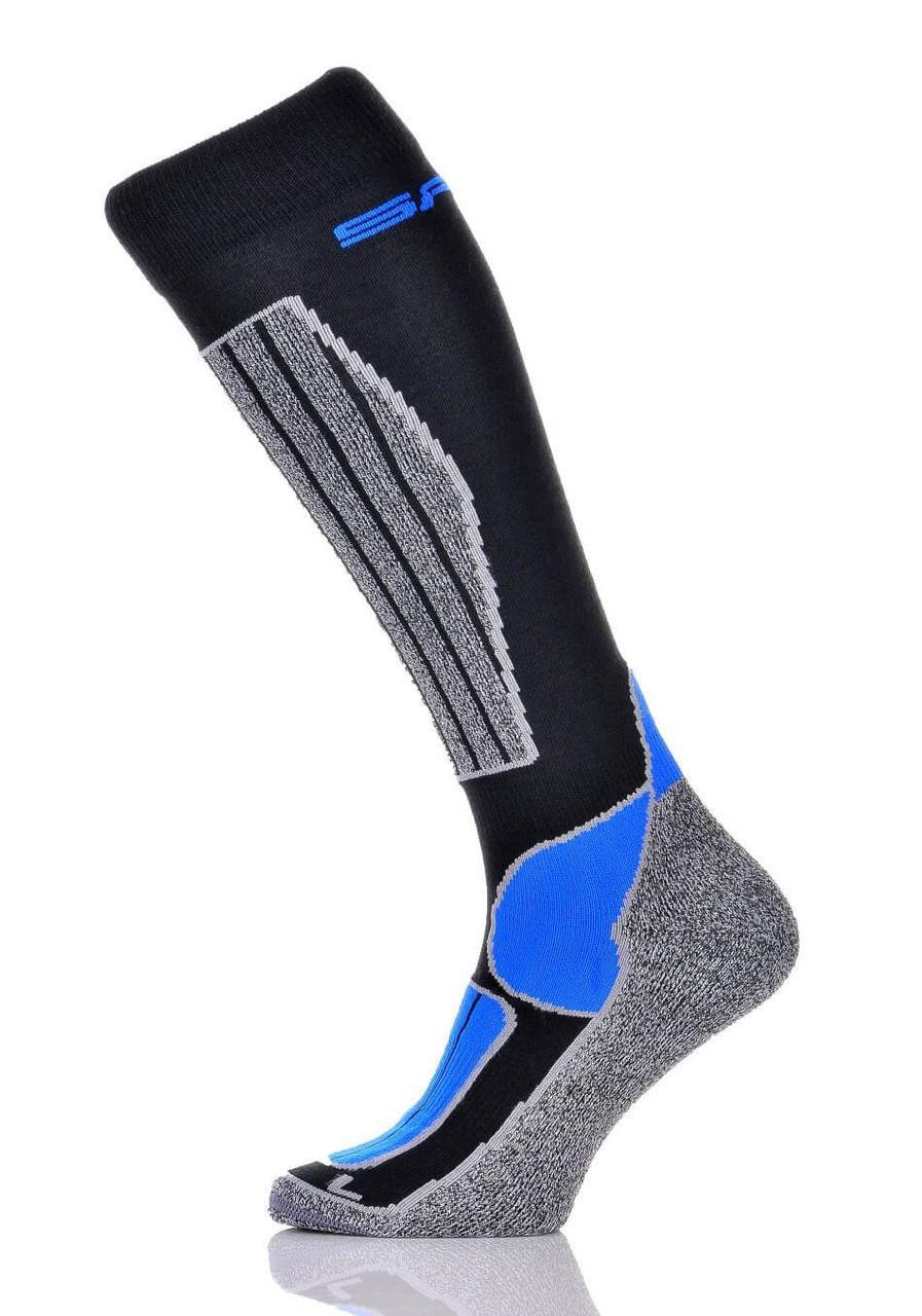 Шкарпетки лижні Spaio Merino Vigour 44-46 Grey-Black-Blue
