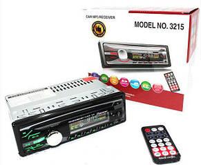 Автомагнитола 1DIN MP3-3215 RGB панель + пульт управления