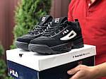 Мужские кроссовки Fila Disruptor 2 (черные) 9842, фото 2