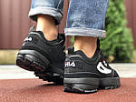 Мужские кроссовки Fila Disruptor 2 (черные) 9842, фото 3