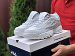 Мужские кроссовки Fila Disruptor 2 (белые) 9841, фото 4