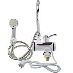 Проточный водонагреватель с душем и дисплеем нижнее крепление