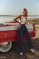 Трендовые джинсы slouchy с кокеткой 25,26,27,28,29