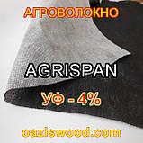 Агроволокно чорне-біле 1.6х100 UV-P 4% AGRISPAN-АГРИСПАН Польська якість за доступною ціною., фото 4