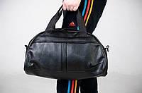 Сумка кожаная через плечо мужская женская Nike (Найк) спортивная черная груша с ремешком   ТОП качества