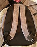 Текстильные черные рюкзаки спортивные и городские 27*35 см, фото 2