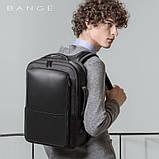 Рюкзак Bange BGS53 класичний діловий вологозахищений USB чорний 30 л, фото 8