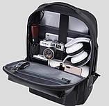 Рюкзак Bange BGS53 класичний діловий вологозахищений USB чорний 30 л, фото 5