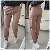 Женские кожаные брюки с карманами, фото 1