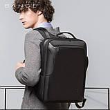 Рюкзак Bange BGS51 классический деловой влагозащищенный USB черный 30 л, фото 6